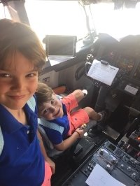 The pilots told them to make themselves at home:)